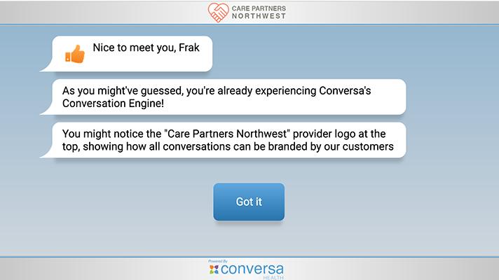 Conversa patient-provider communication
