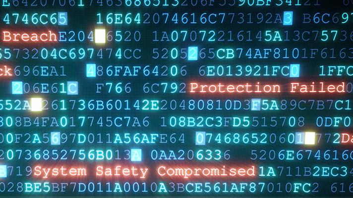 cybersecurity computer screen breaches