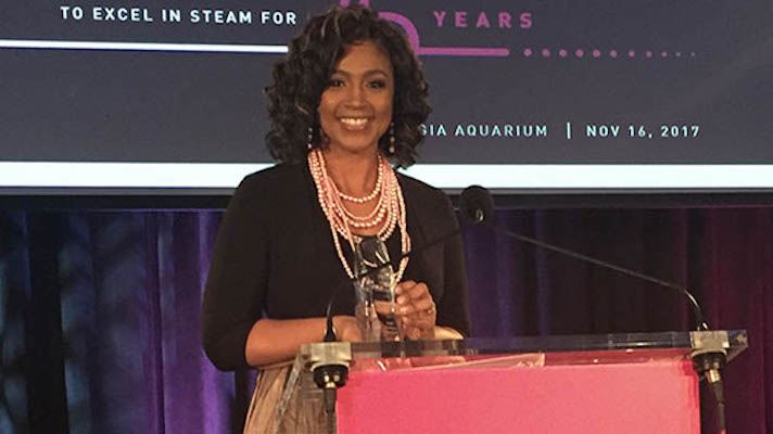 Denise Hines receives Woman of the Year in Technology Award