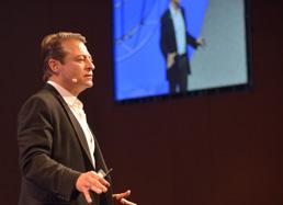 Peter Diamandis, speaking at the CHIME 2014 Fall CIO Forum