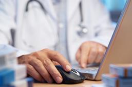 Doc at computer