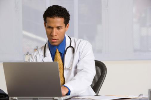 Doc using computer