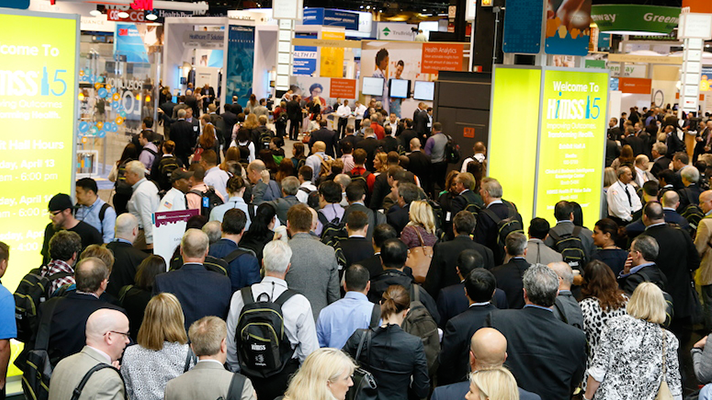 Huge crowds filled the exhibition hall at HIMSS15 in Chicago.