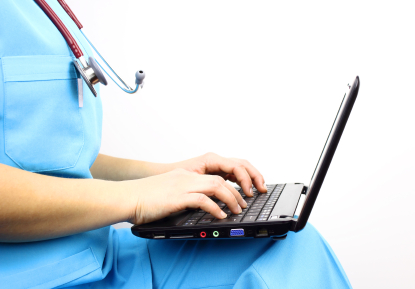 Doc and laptop