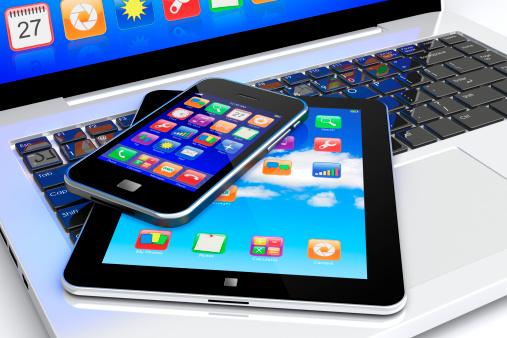 Laptop smartphone iPad