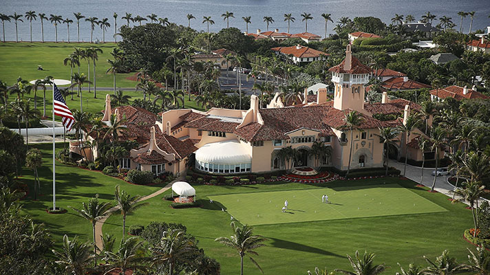 President Donald Trump's beach front Mar-a-Lago resort in Florida
