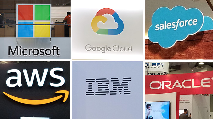 Amazon, Google, IBM, Microsoft, Salesforce, Oracle signs from HIMSS!8