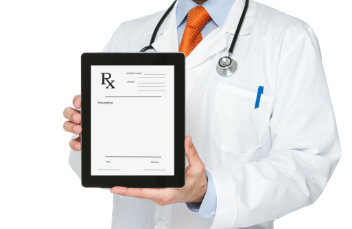 RX script on a tablet