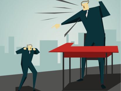 Illustration of man yelling
