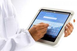 doc on tablet EHR