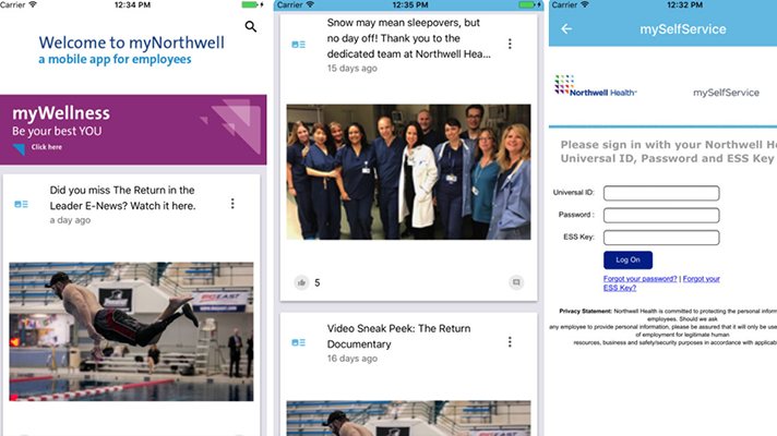 Northwell Health app for employees