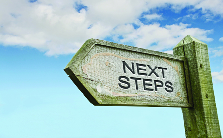 Next steps sign
