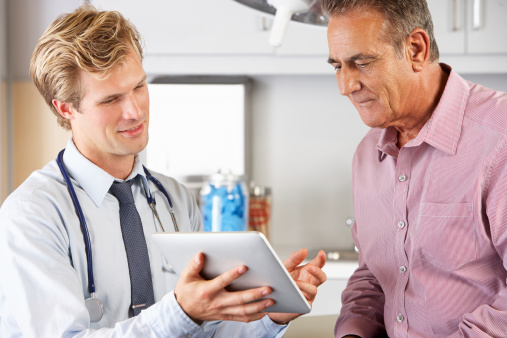 Doc and patient with tablet