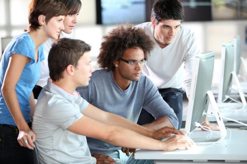 People at laptop