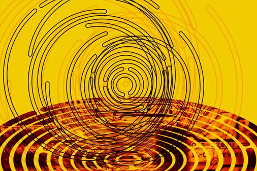 Circles maze illustration