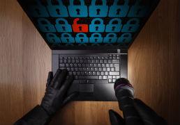 Laptop with padlocks