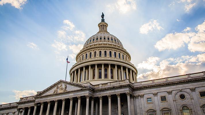 US Senate capital building exterior view of dome
