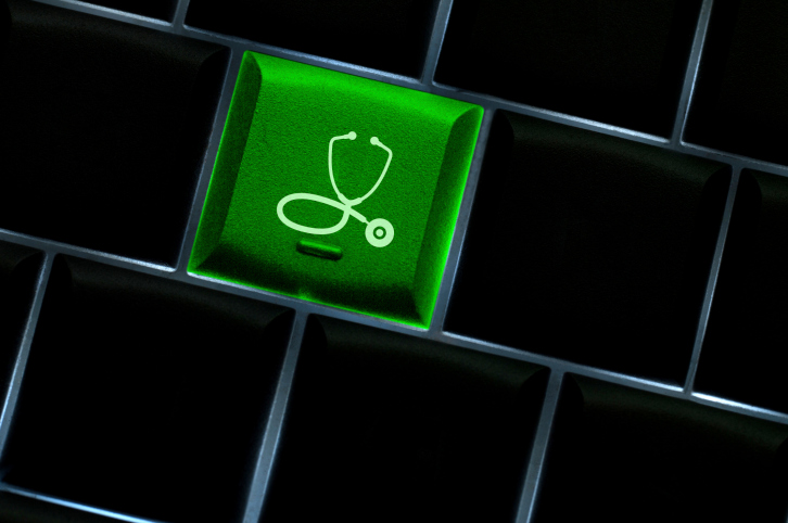 Stethoscope key on keyboard