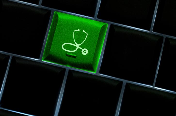 Stethoscope key on keyboard