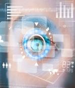 medical data over an eye