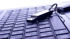 Keyboard and flash drive