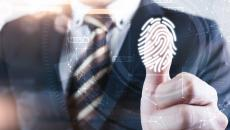 Business person with thumbprint