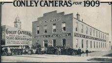Conley Camera building in an antique photo