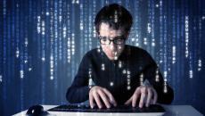 Hacker coding typing