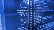 AI code base on computer screen