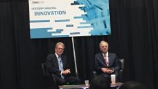 Former Apple CEO John Sculley speaks with Wainwright Fishburn, of Cooley LLP at BIO18
