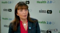 Bettina Experton talking to HIMSS TV