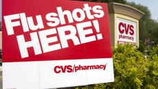 CVS sign and ad.