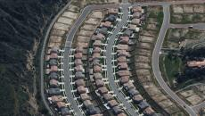 Arial shot of a suburb