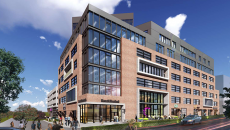 A rendering of the Catalyst Health-Tech Innovation hub, slated to open in 2018 in Denver.
