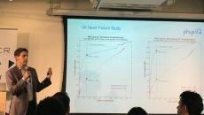 Chris Economos, VP of Business Development at PhysIQ, speaking at the May 24 Startup Day event in Chicago.