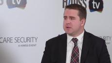 Christian Dameff speaking to HIMSS TV