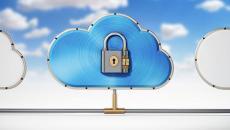 Cloud security illustration.