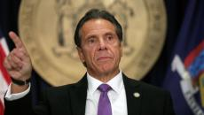 New York Gov. Andrew Cuomo at a press briefing