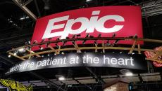 Epic booth sign at himss18