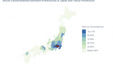 Facebook COVID Map of Japan