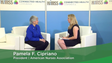 Pamela Cipriano at the HIMSS Connected Health Conference