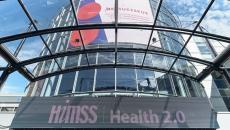 HIMSS Europe conference entrance.