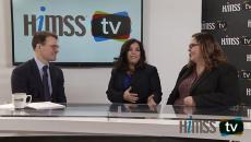 Patient advocate Amanda Greene and Max Stroud of Galen Healthcare talk at HIMSS18