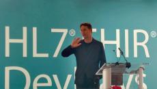John Halamka speaking at HL7's DevDays in Boston on Tuesday