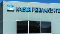 Kaiser Permanente sign and logo on building