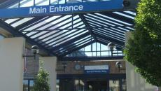 Kingston Hospital entrance.
