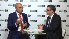 Mazen Sobh talking to HIMSS TV