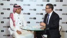 Meshari Alwazae talking to HIMSS TV