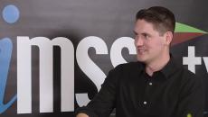 Nick Dougherty talking to HIMSS TV
