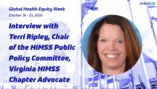 Terri Ripley, chair of the HIMSS Public Policy Committee